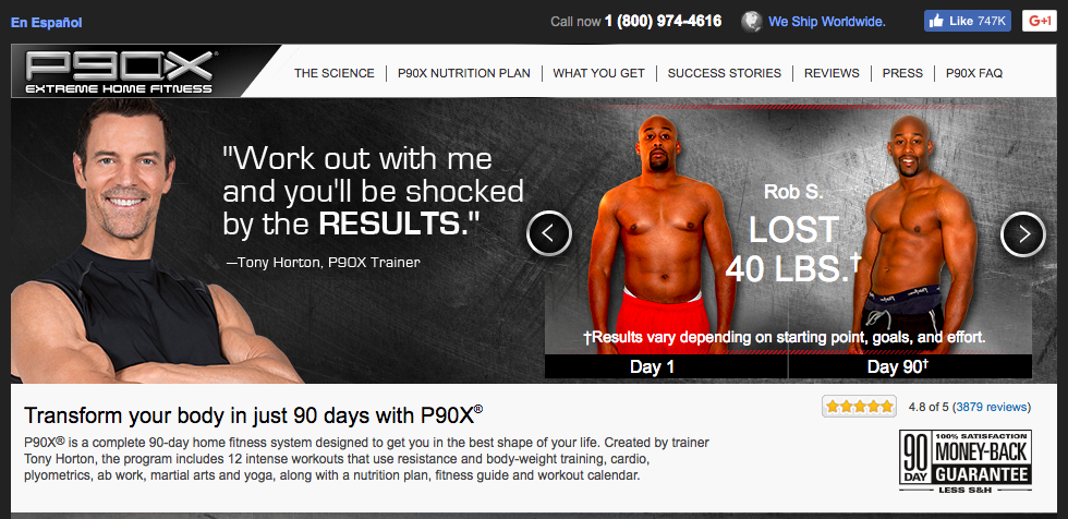 customer testimonials from p90x - sales objections