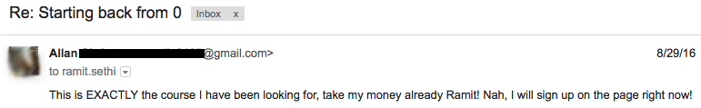 student email -- shut up and take my money